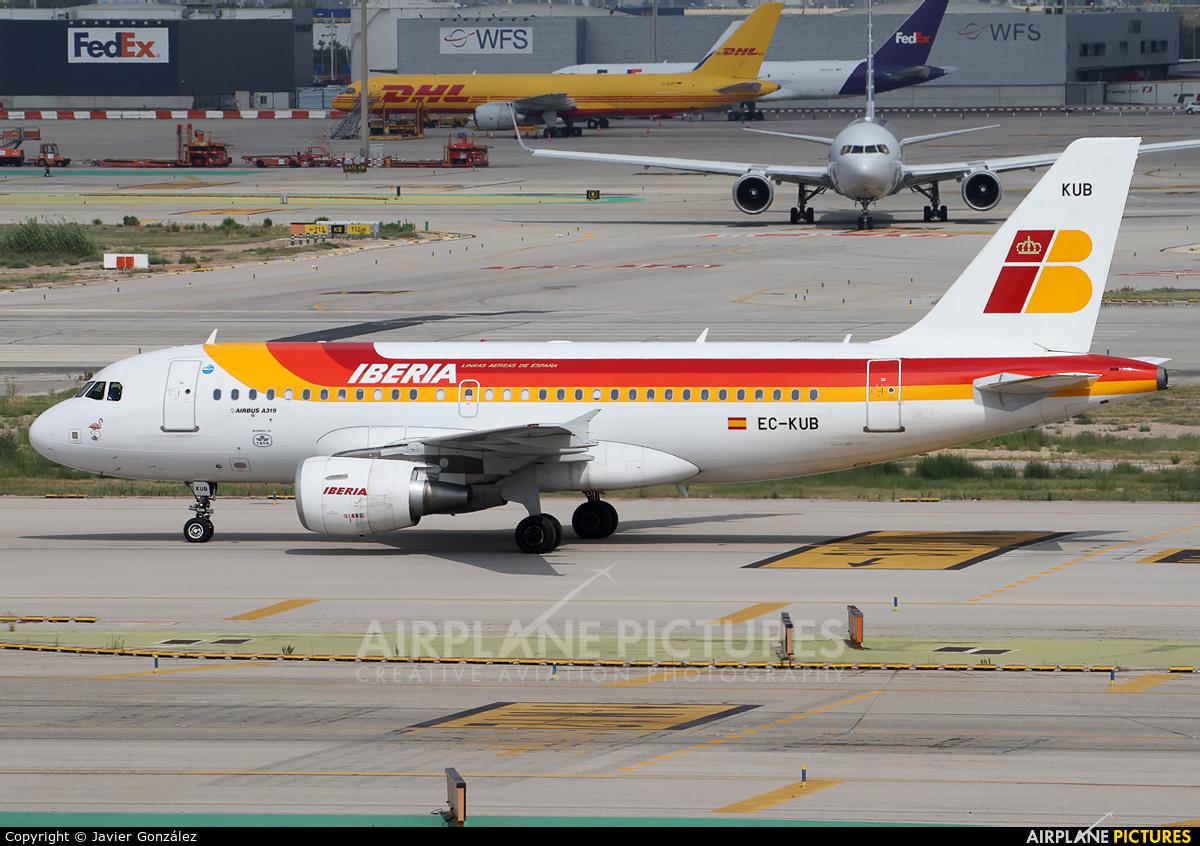 Iberia EC-KUB aircraft at Barcelona - El Prat