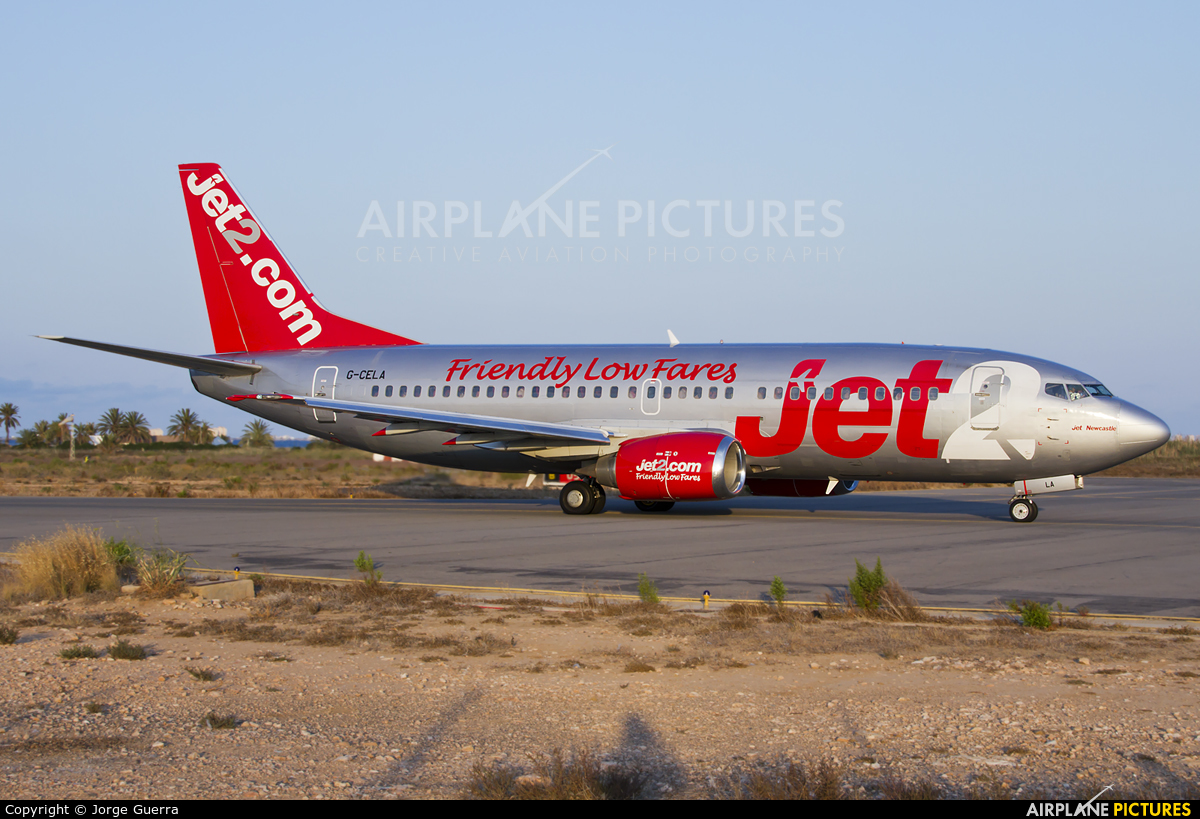 Jet2 G-CELA aircraft at Murcia - San Javier