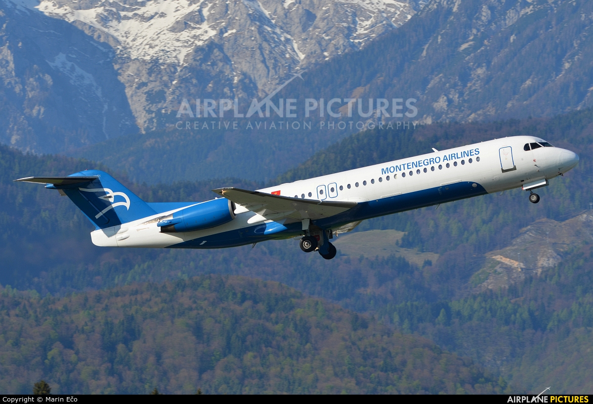 Montenegro Airlines 4O-AOK aircraft at Ljubljana - Brnik