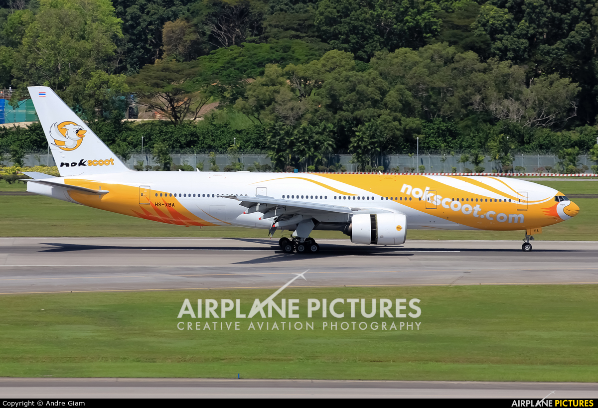 Nokscoot HS-XBA aircraft at Singapore - Changi