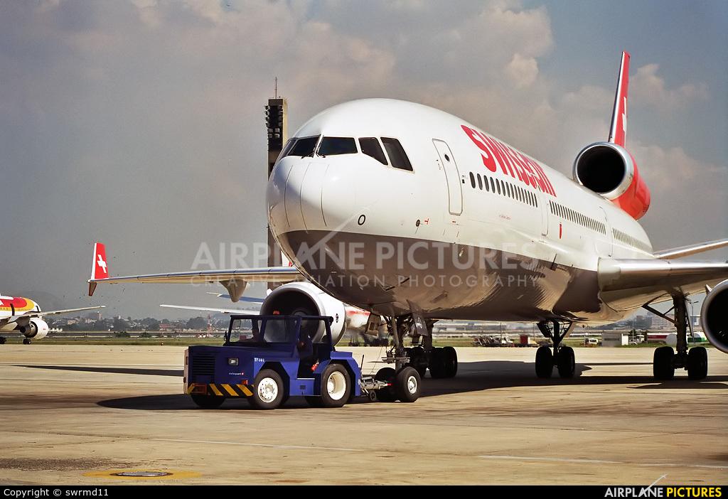 Swissair HB-IWO aircraft at Rio de Janeiro/Galeão Intl - Antonio Carlos Jobim