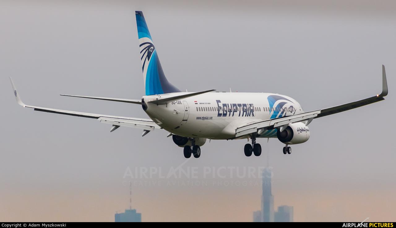 Egyptair SU-GEE aircraft at Frankfurt