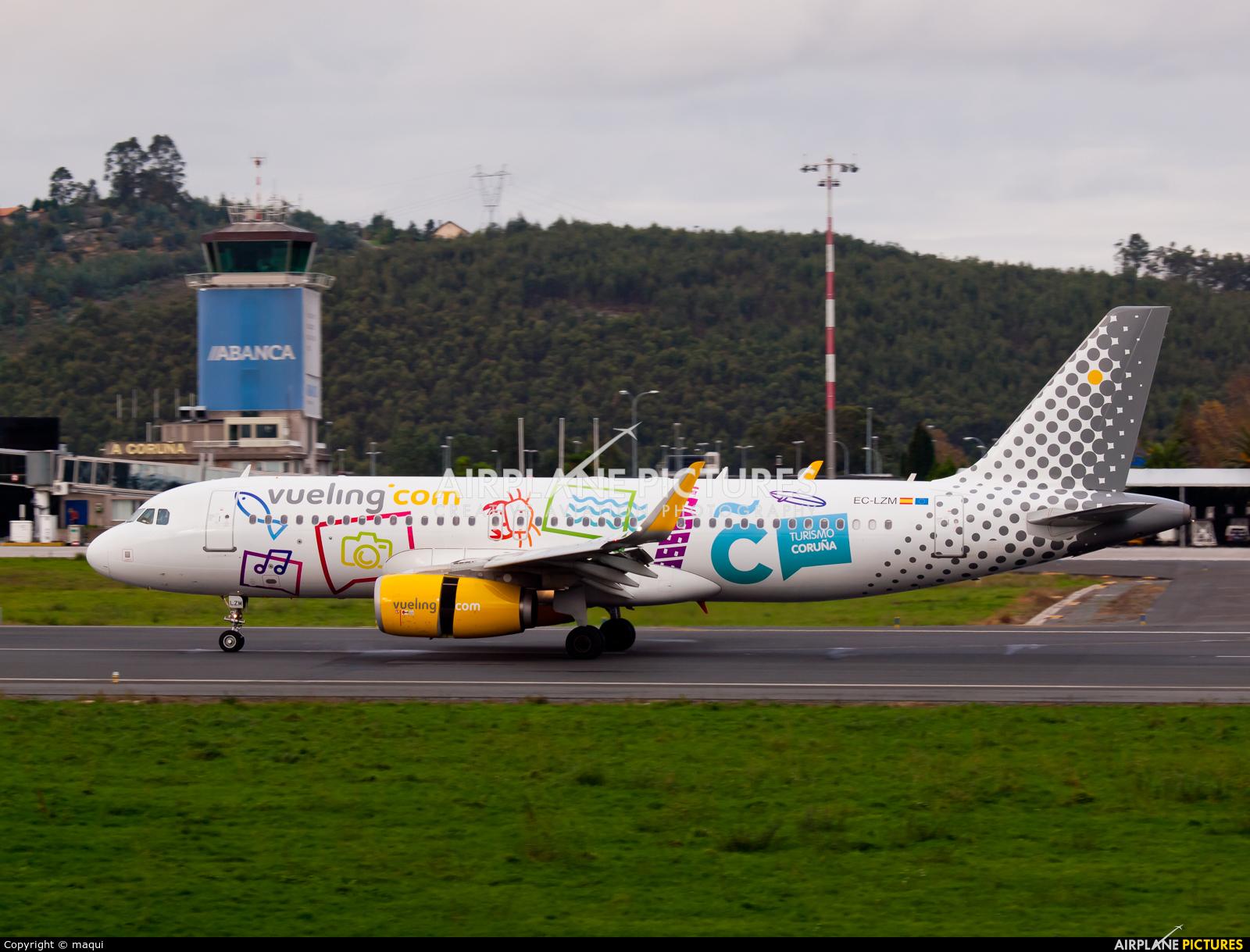 Vueling Airlines EC-LZM aircraft at La Coruña