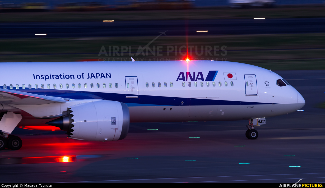 ANA - All Nippon Airways JA833A aircraft at Tokyo - Haneda Intl