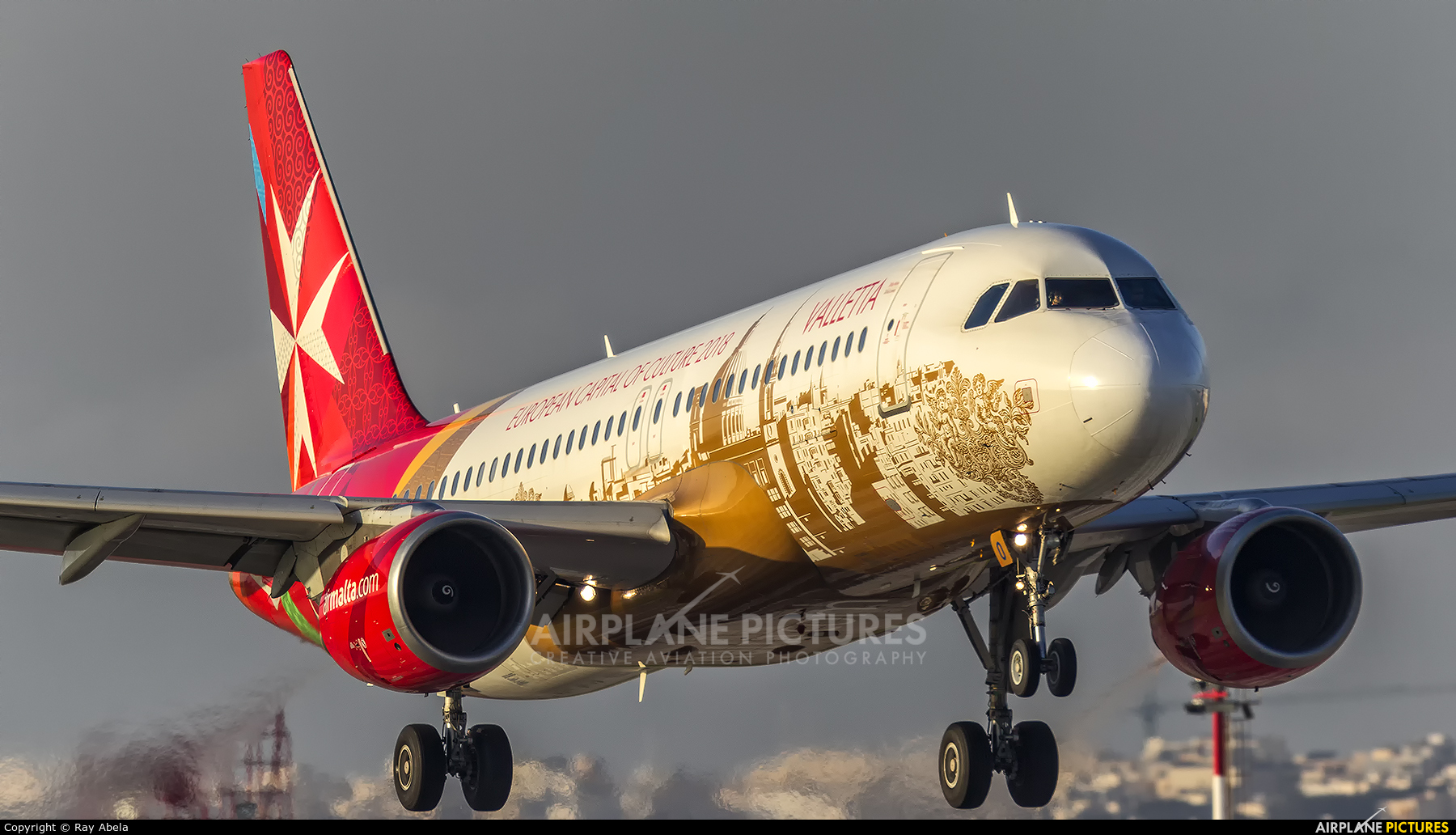 Air Malta 9H-AEO aircraft at Malta Intl