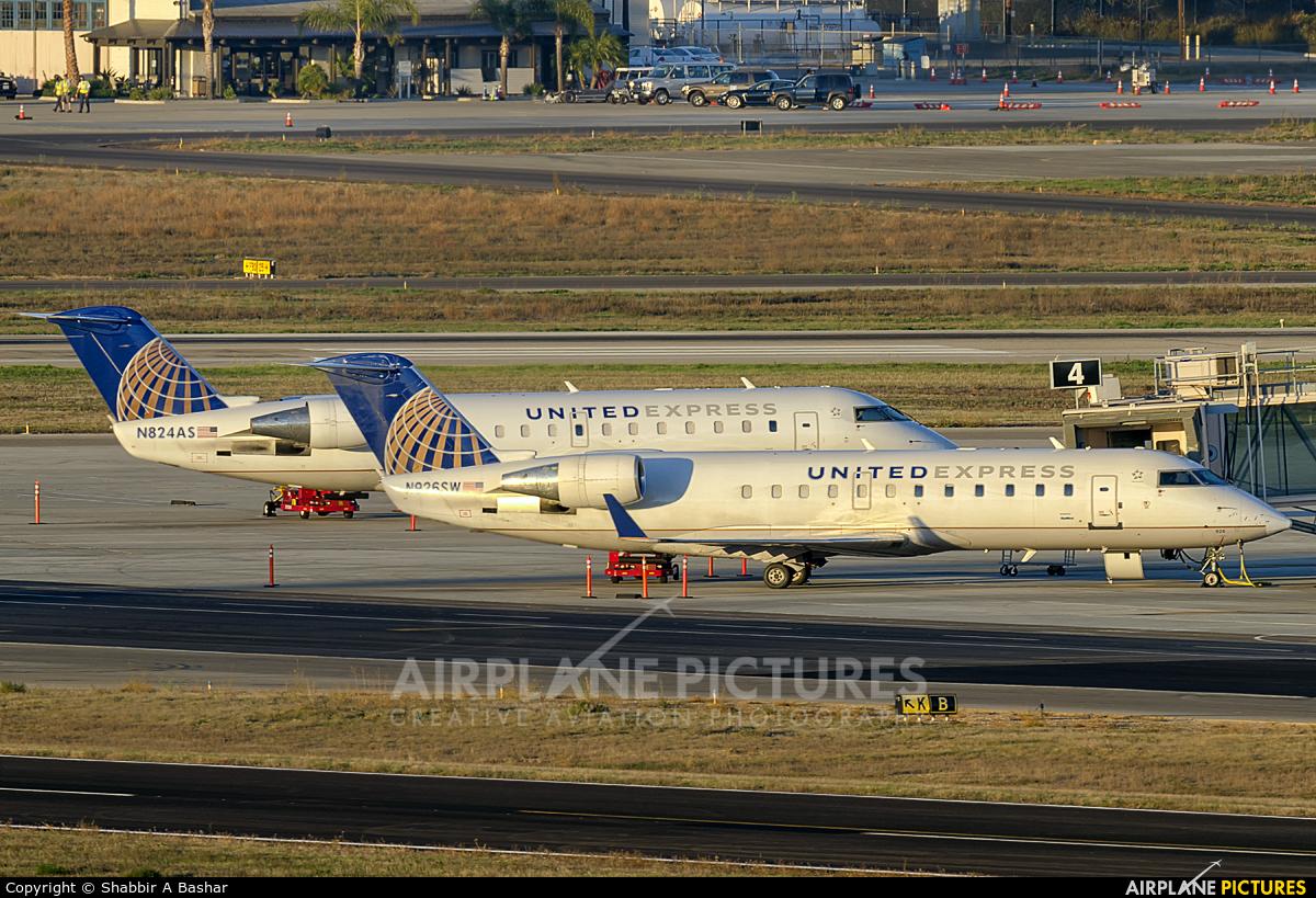 United Express - SkyWest N824AS aircraft at Santa Barbara Municipal