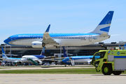 Low pass to celebrate a new Aerolineas Argentinas fleet addition title=