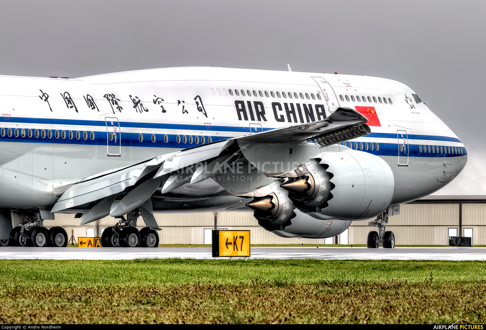 Air China B-2486 aircraft at Everett - Snohomish County / Paine Field