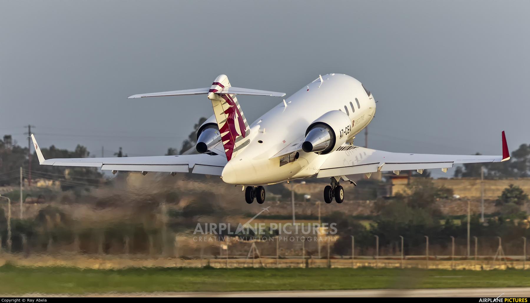 Qatar Executive A7-CEA aircraft at Malta Intl