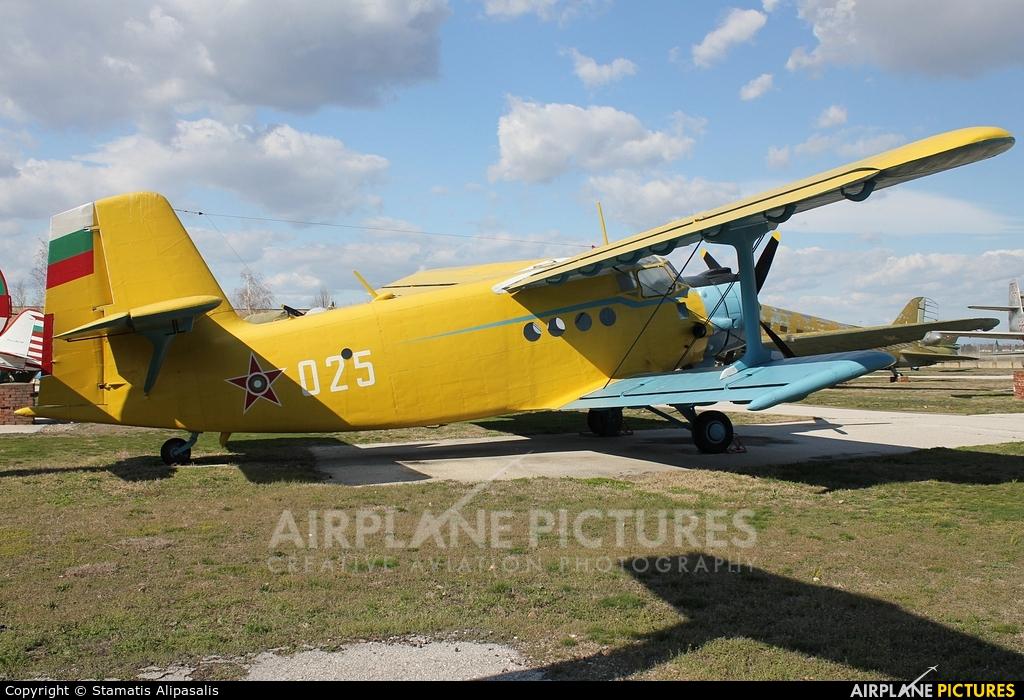 Bulgaria - Air Force 025 aircraft at Plovdiv - Krumovo