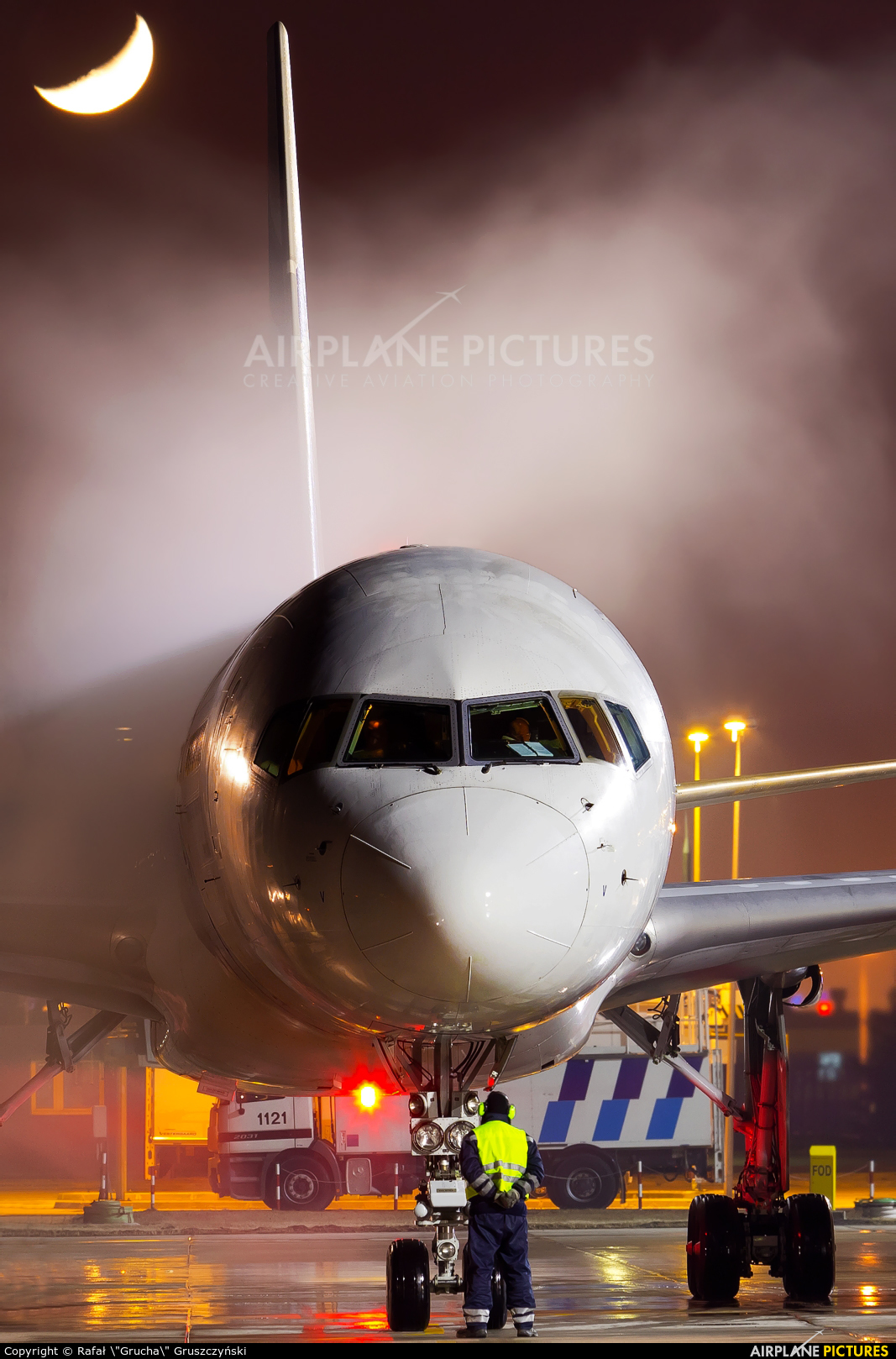 El Al Israel Airlines 4X-EBV aircraft at Warsaw - Frederic Chopin