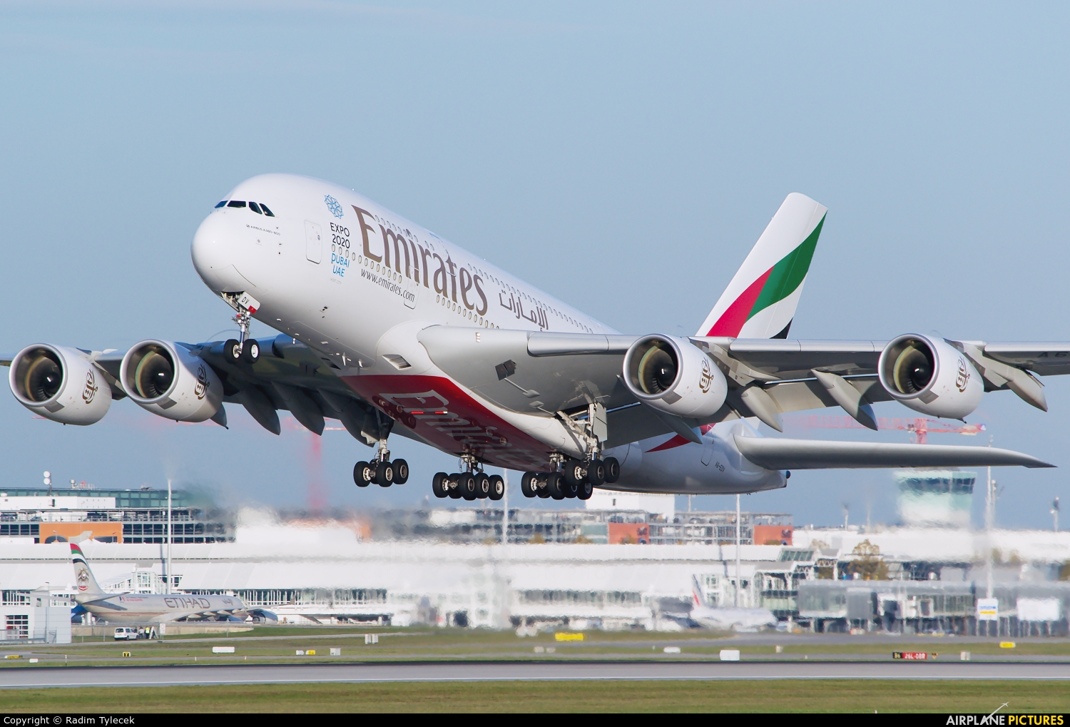 Emirates Airlines A6-EDV aircraft at Munich