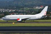 Bmibaby Boeing 737-300 in maintenance at San Jose title=