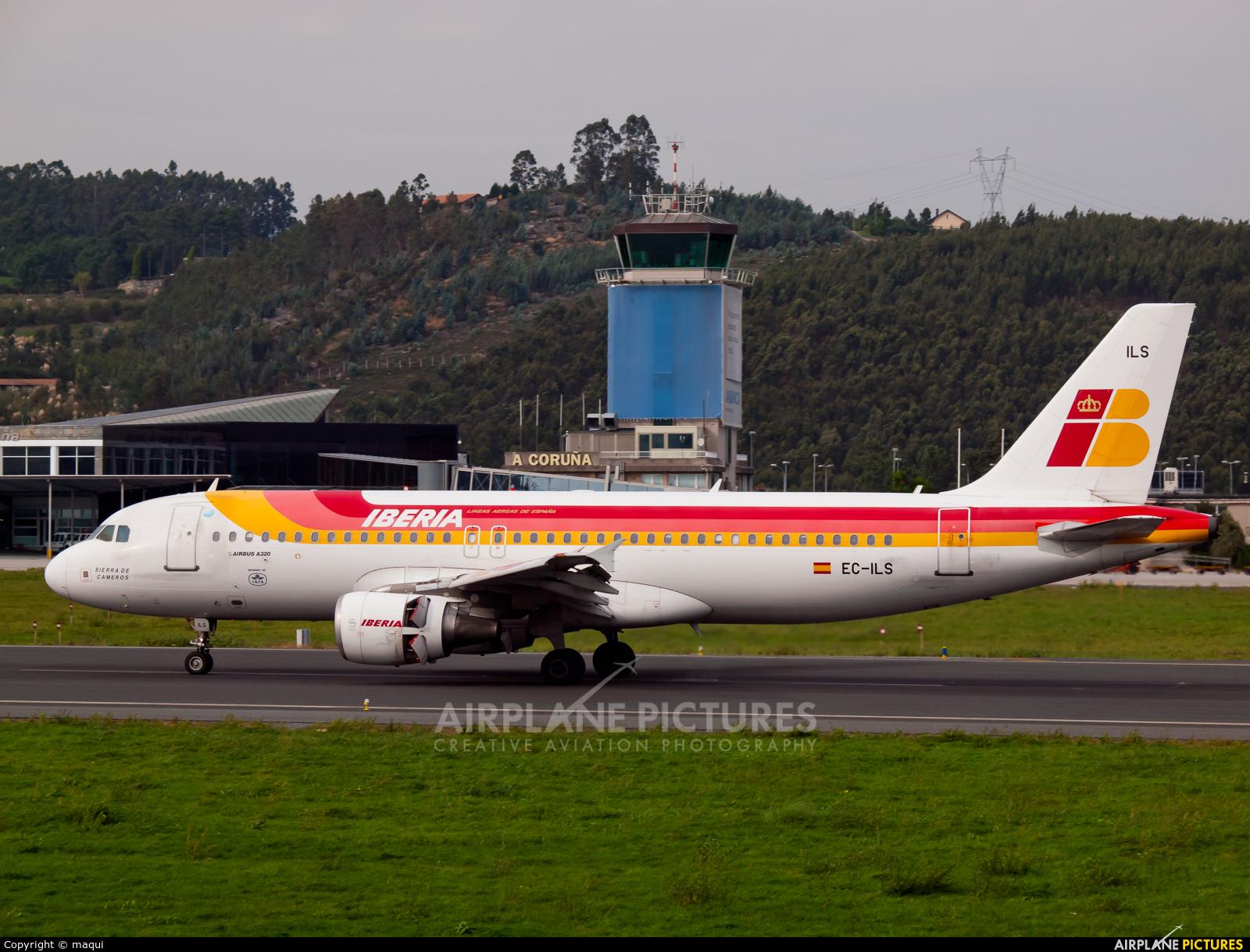 Iberia EC-ILS aircraft at La Coruña