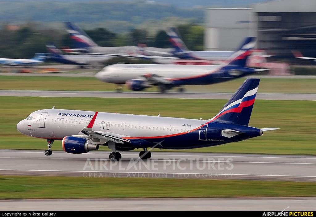 Aeroflot VQ-BPV aircraft at Moscow - Sheremetyevo