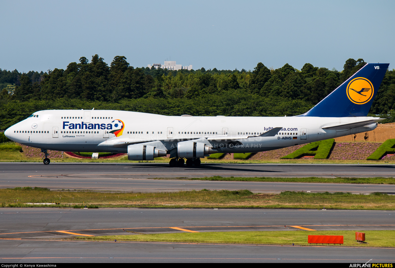 Lufthansa D-ABVS aircraft at Tokyo - Narita Intl