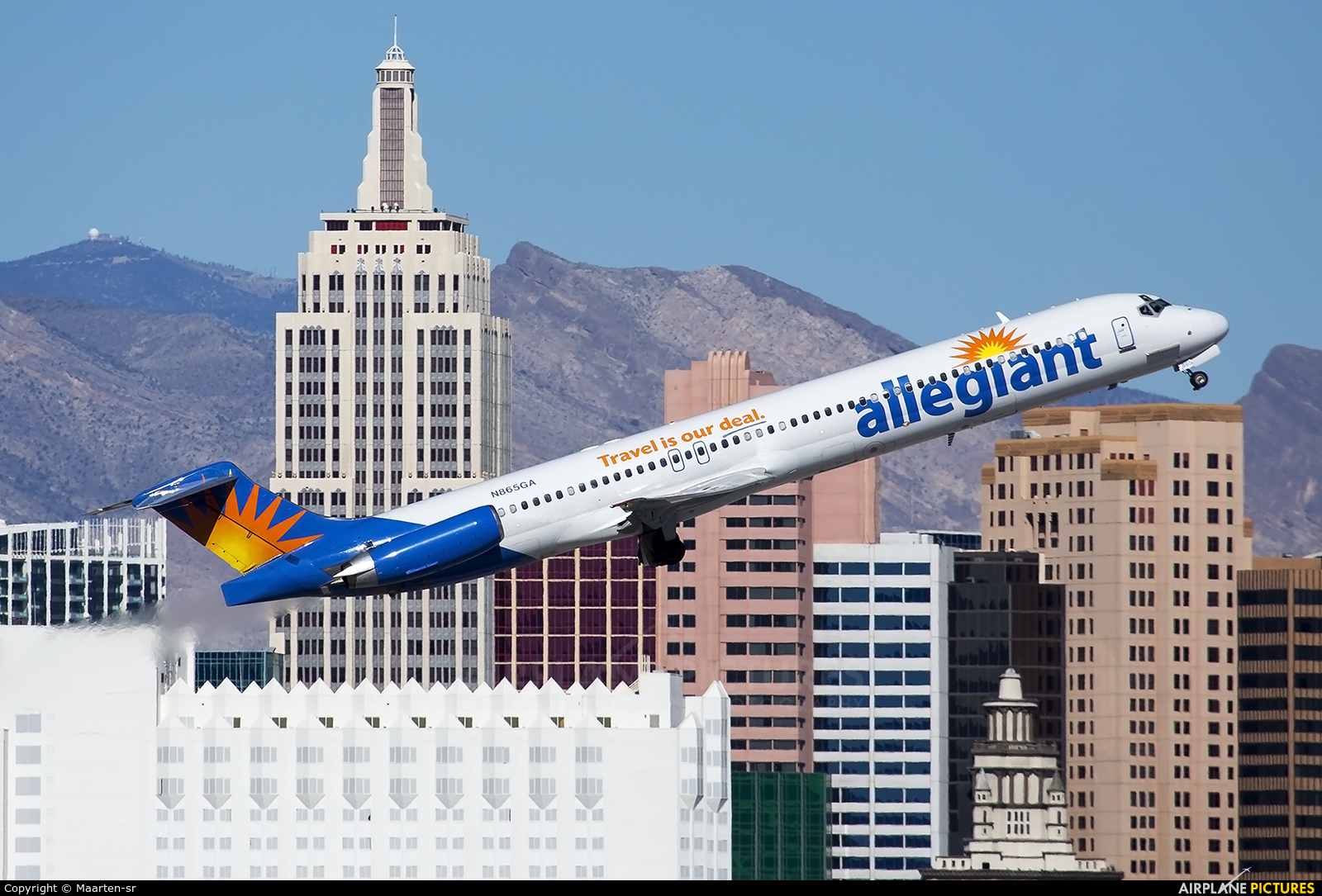 Allegiant Air N865GA aircraft at Las Vegas - McCarran Intl
