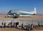 NASA Super Guppy quick fuel stop in Phoenix - Mesa Gateway title=