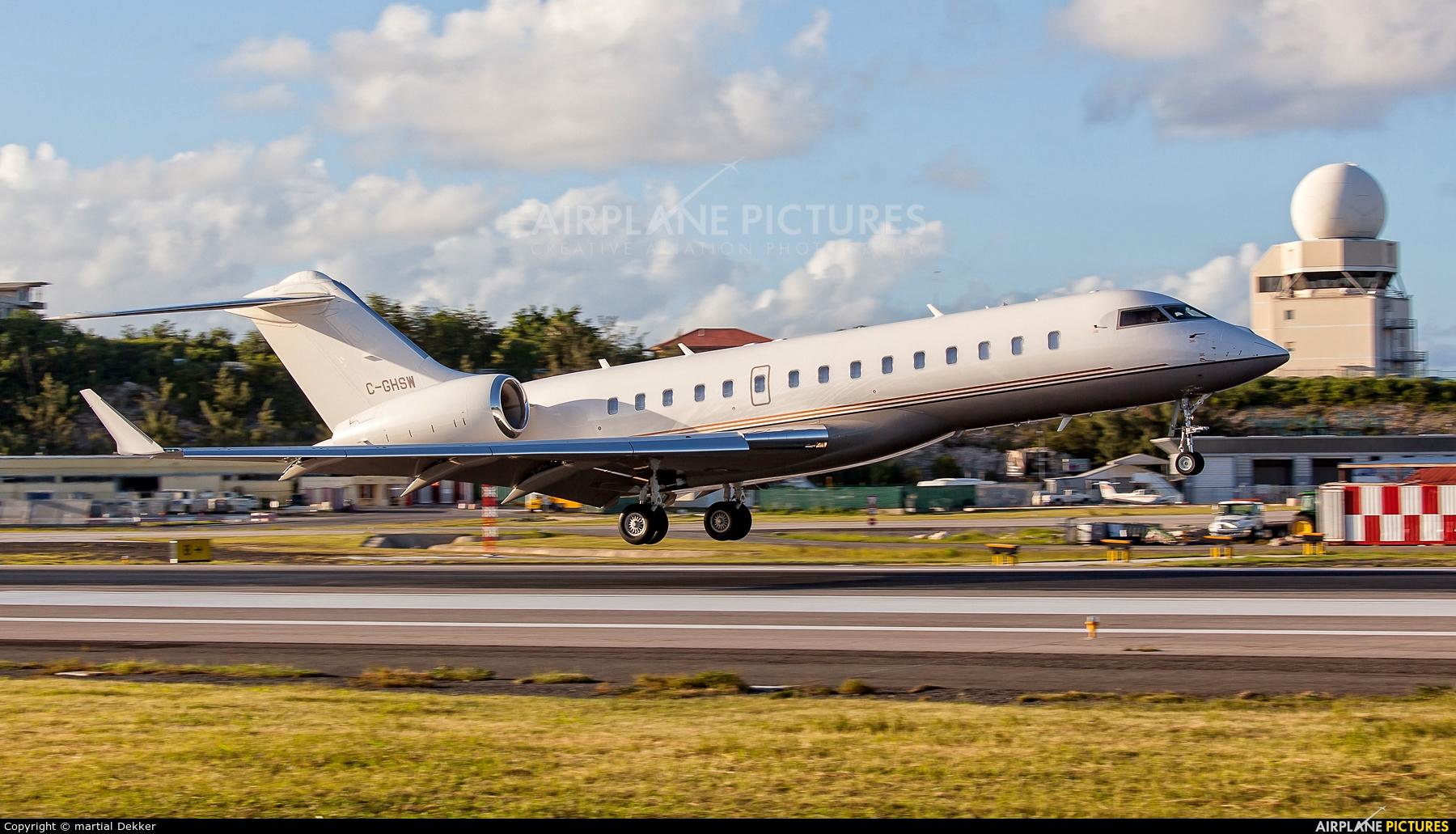 Private C-GHSW aircraft at Sint Maarten - Princess Juliana Intl