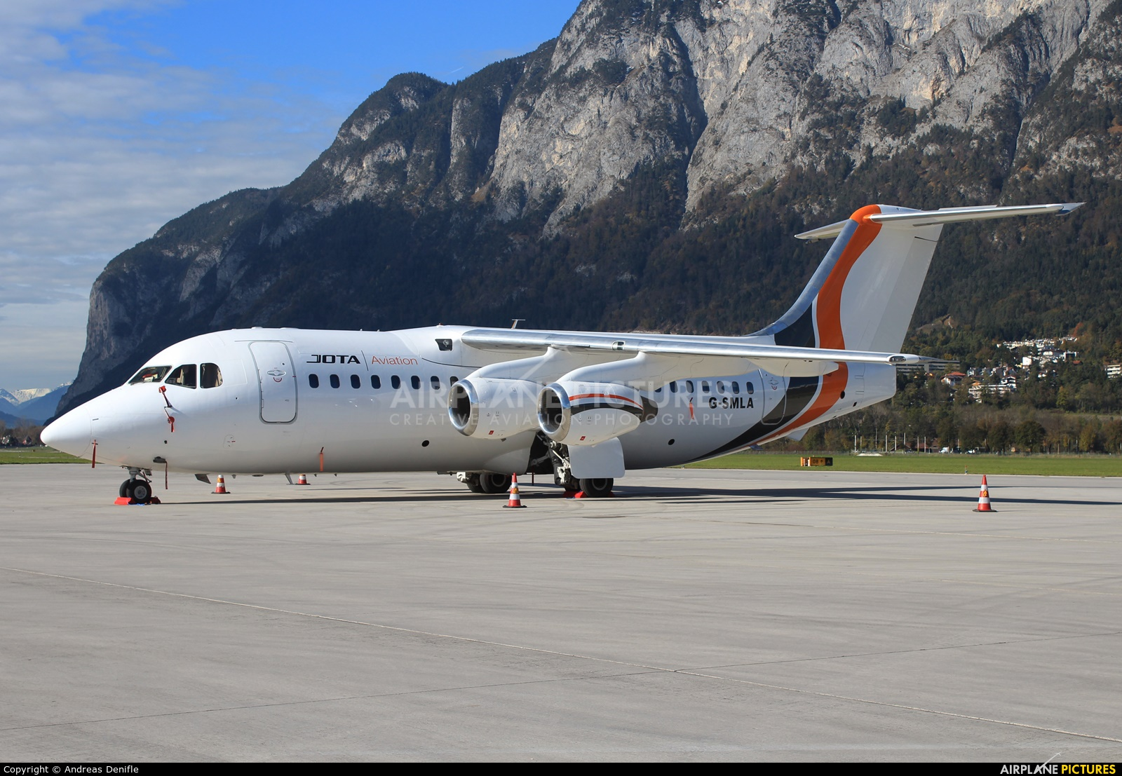 Jota Aviation G-SMLA aircraft at Innsbruck