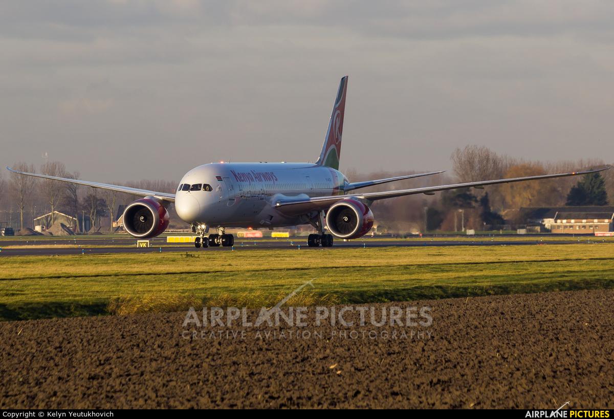 Kenya Airways 5Y-KZD aircraft at Amsterdam - Schiphol