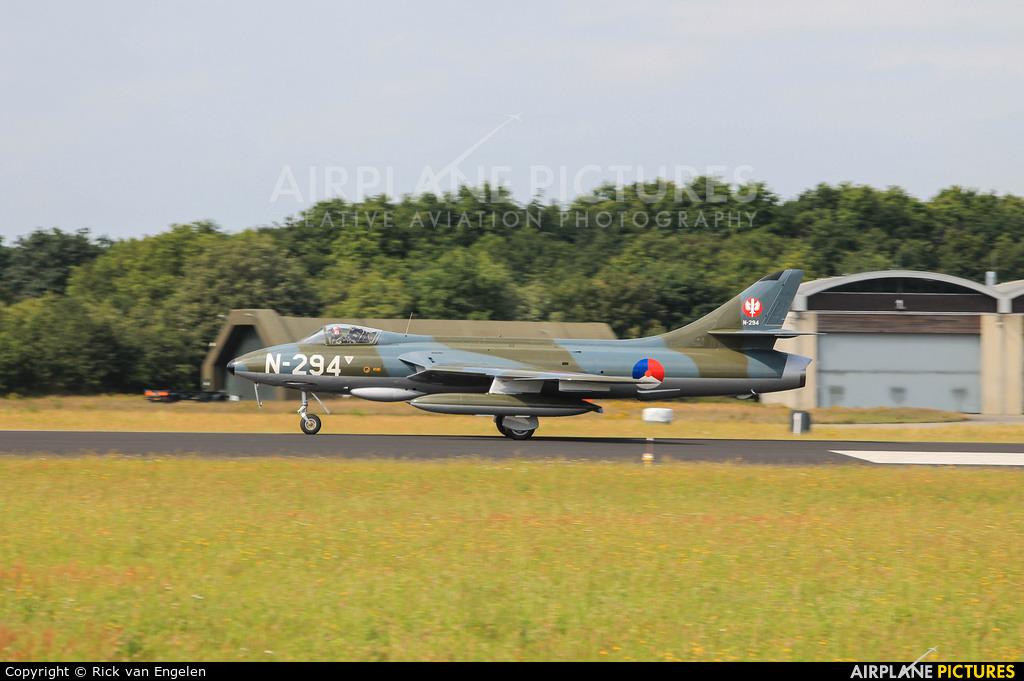 Dutch Hawker Hunter Foundation N-294 aircraft at Gilze-Rijen