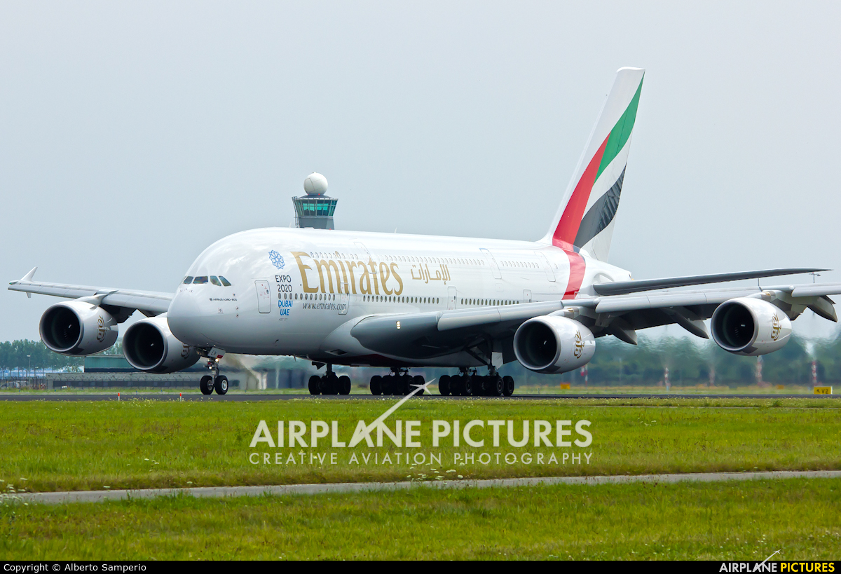 Emirates Airlines A6-EEN aircraft at Amsterdam - Schiphol