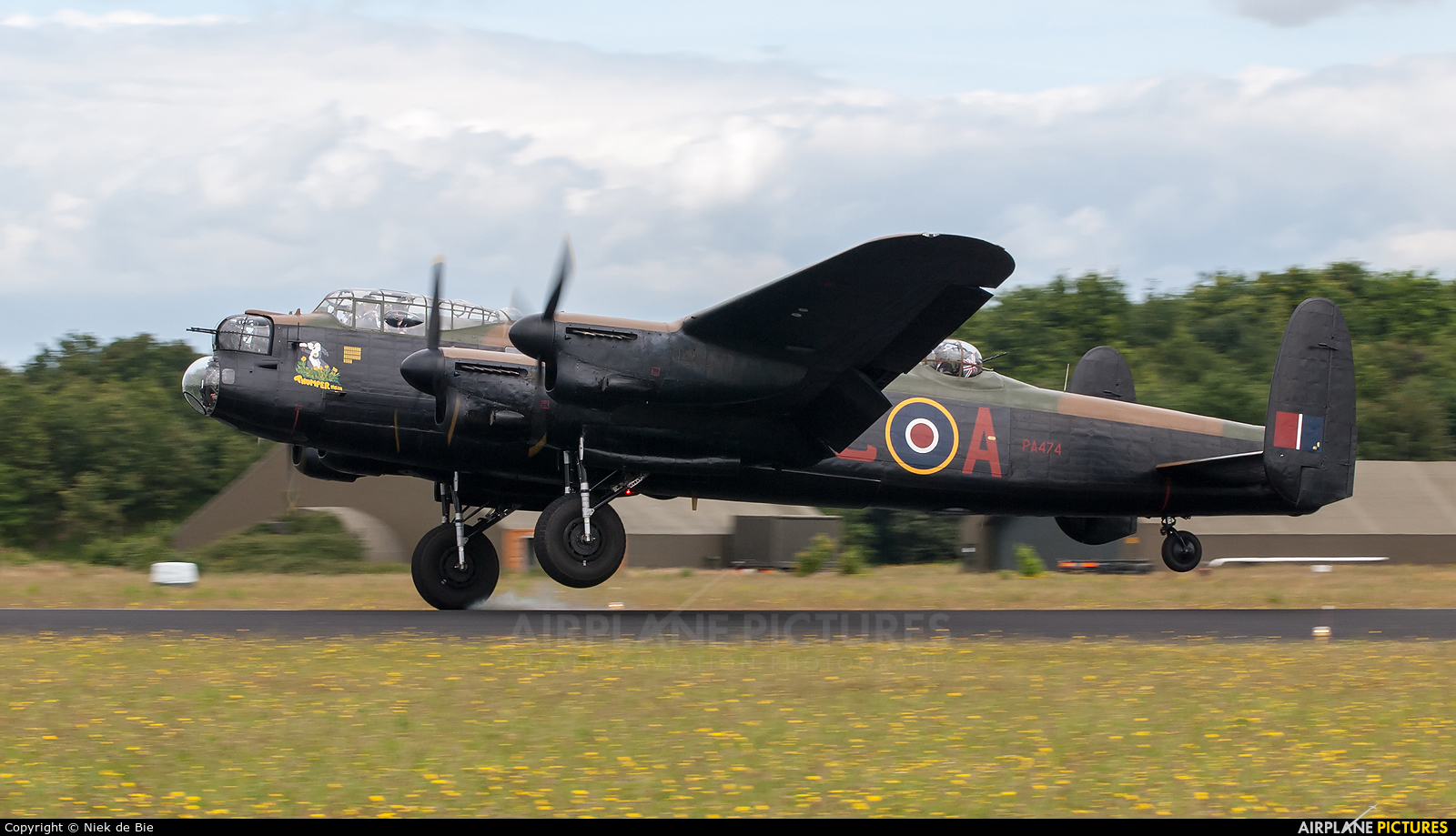 "Royal Air Force ""Battle of Britain Memorial Flight&quot PA474 aircraft at Gilze-Rijen"
