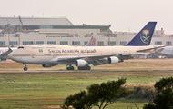 Saudi Arabian Boeing 747's rare visit in Taipei title=