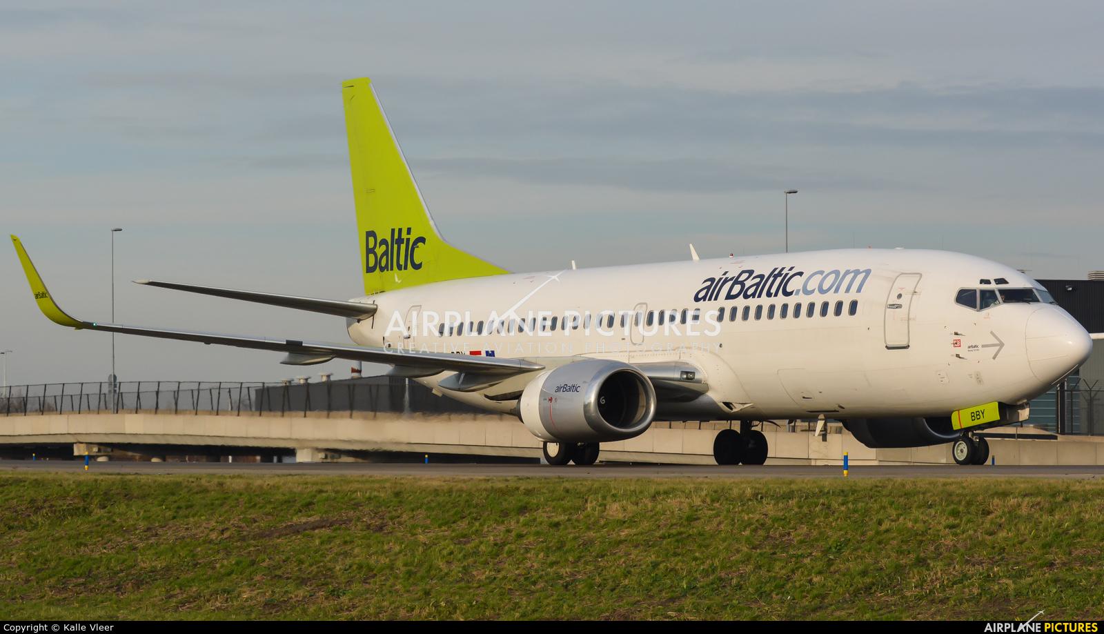 Air Baltic YL-BBY aircraft at Amsterdam - Schiphol