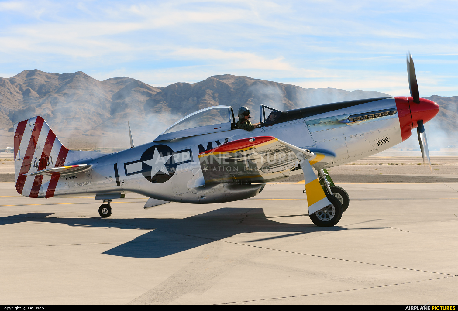 Private N351MX aircraft at Nellis AFB