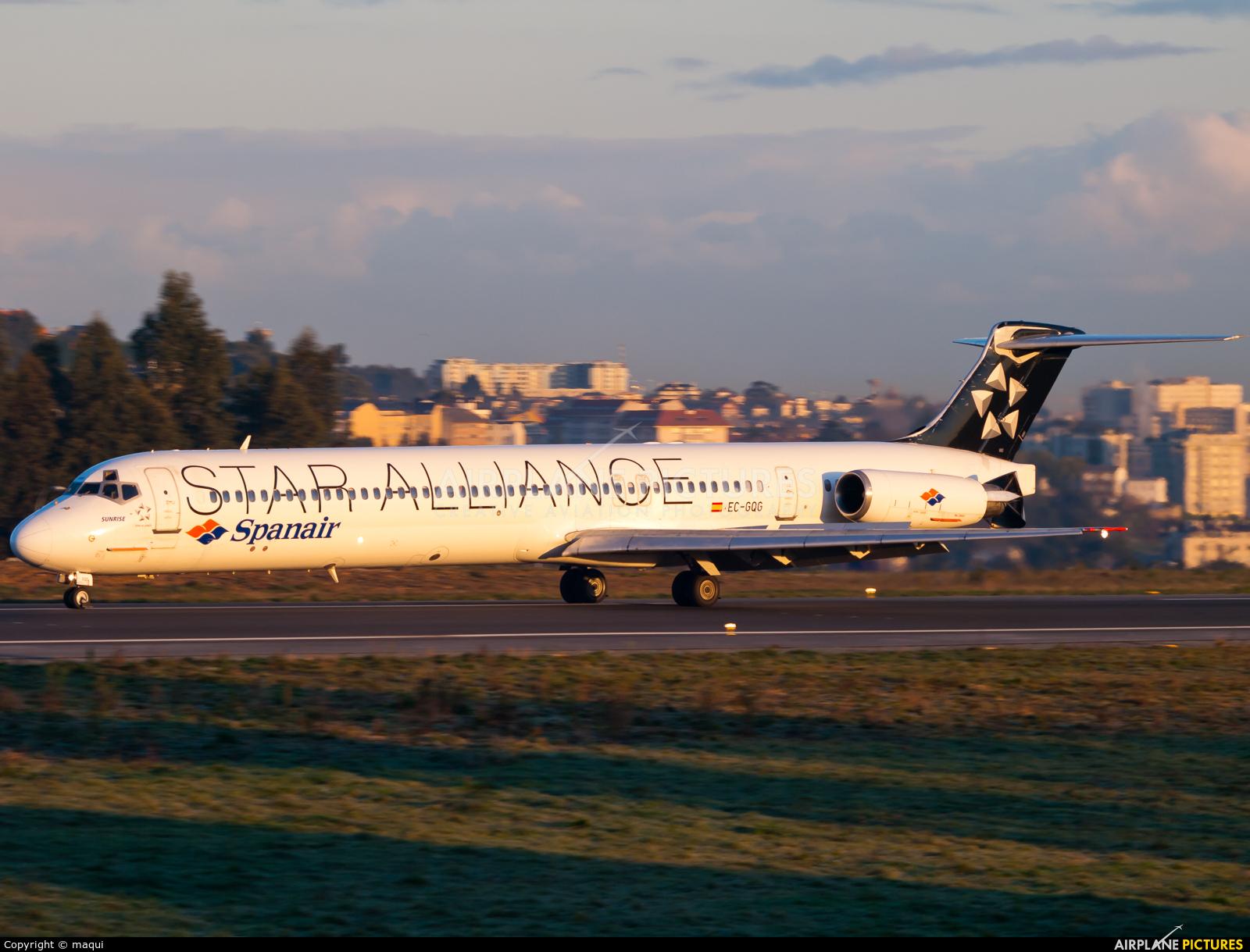 Spanair EC-GQG aircraft at La Coruña
