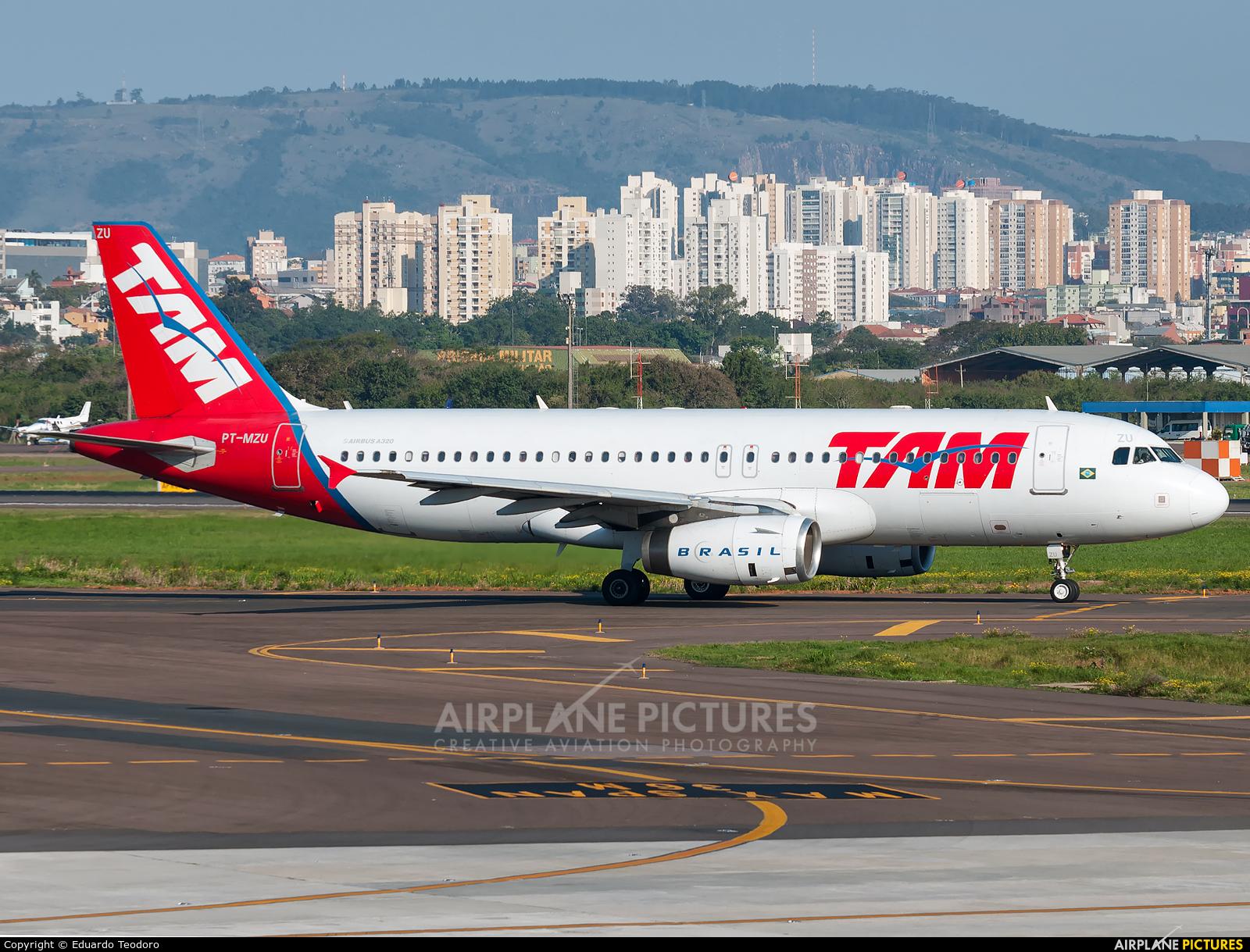 TAM PT-MZU aircraft at Porto Alegre - Salgado Filho