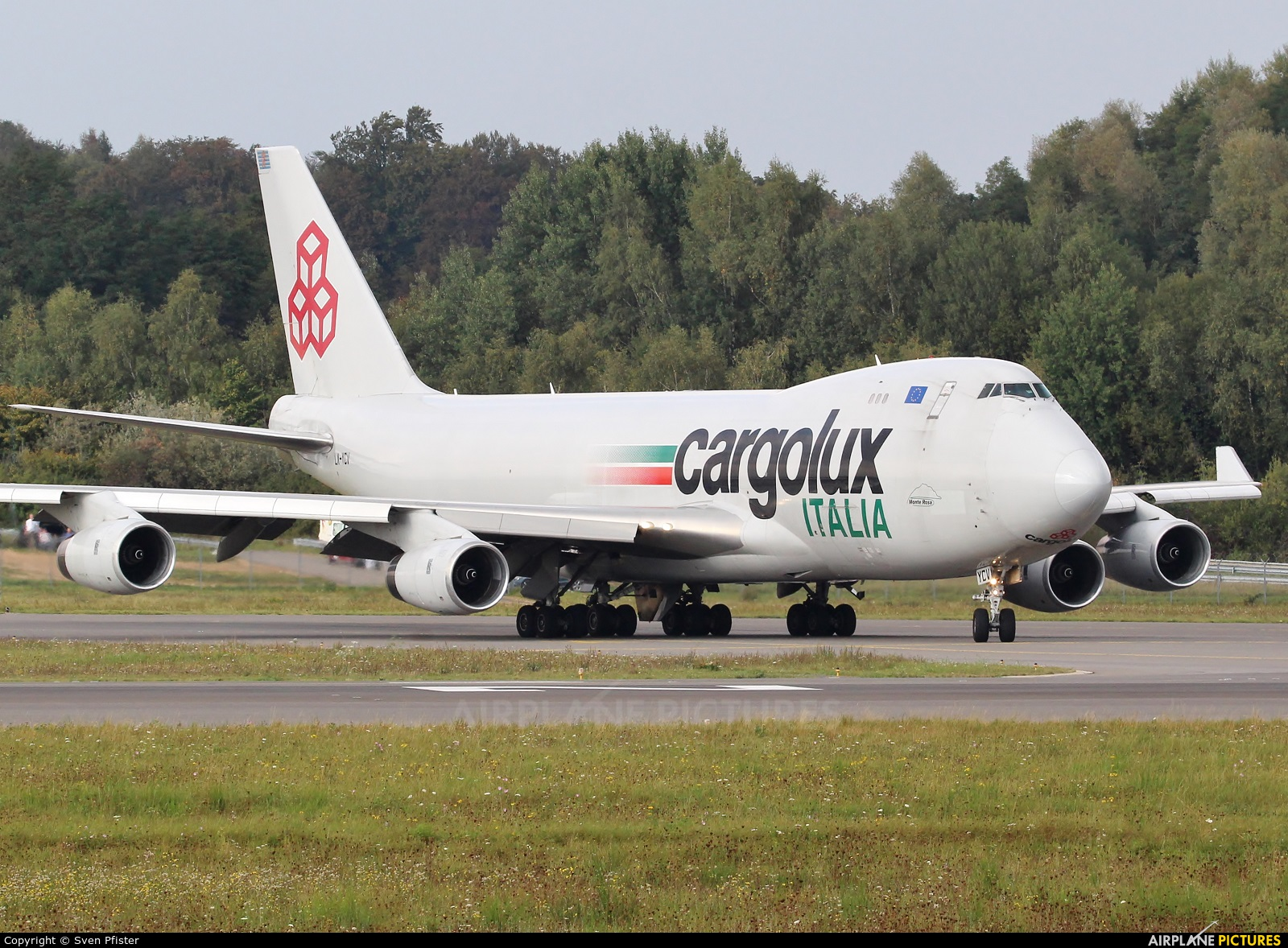 Cargolux Italia LX-YCV aircraft at Luxembourg - Findel
