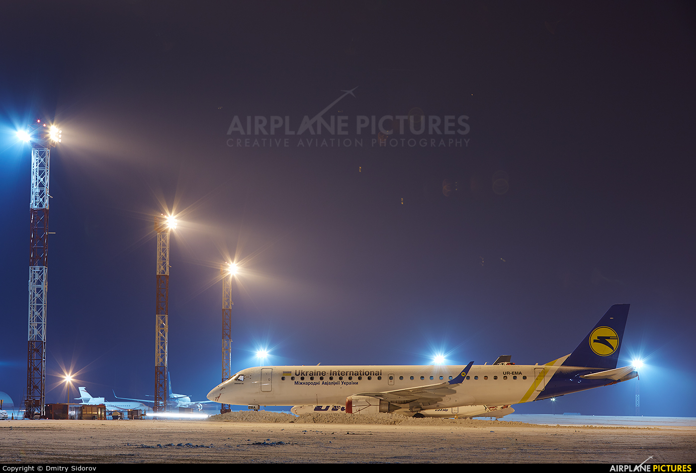 Ukraine International Airlines UR-EMA aircraft at Kiev - Borispol