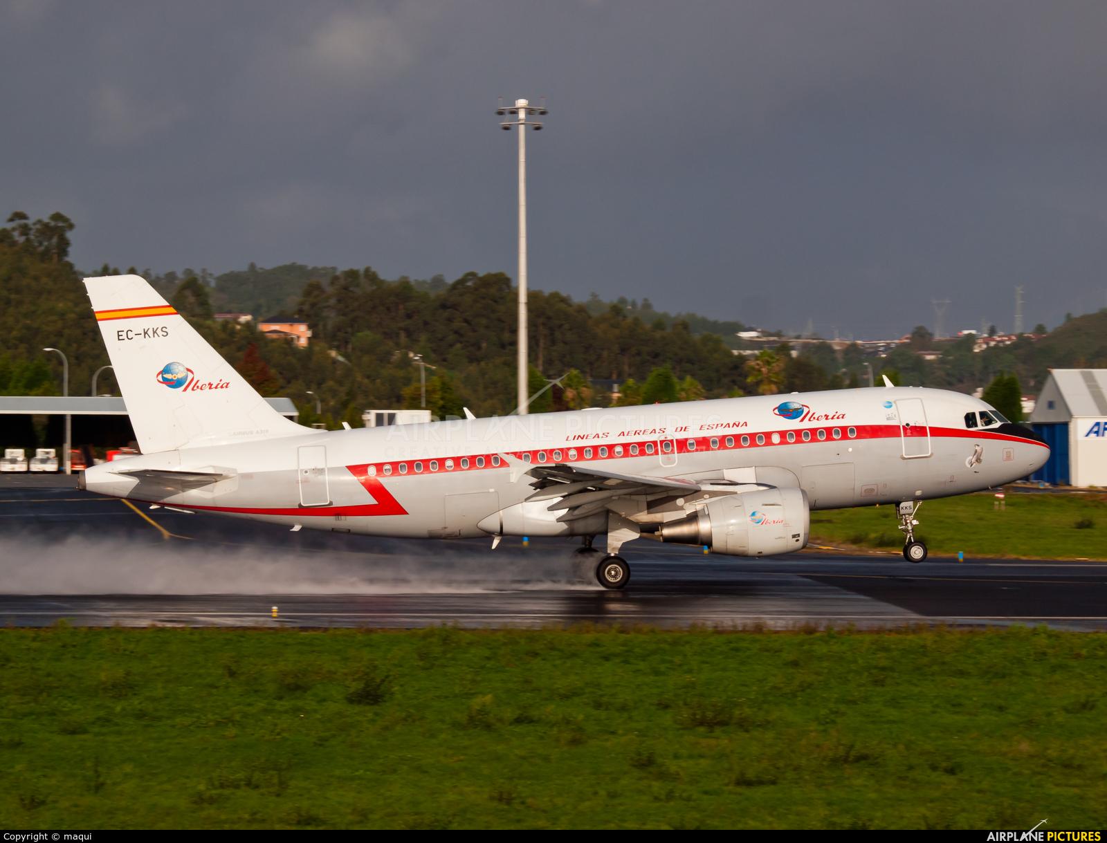 Iberia EC-KKS aircraft at La Coruña