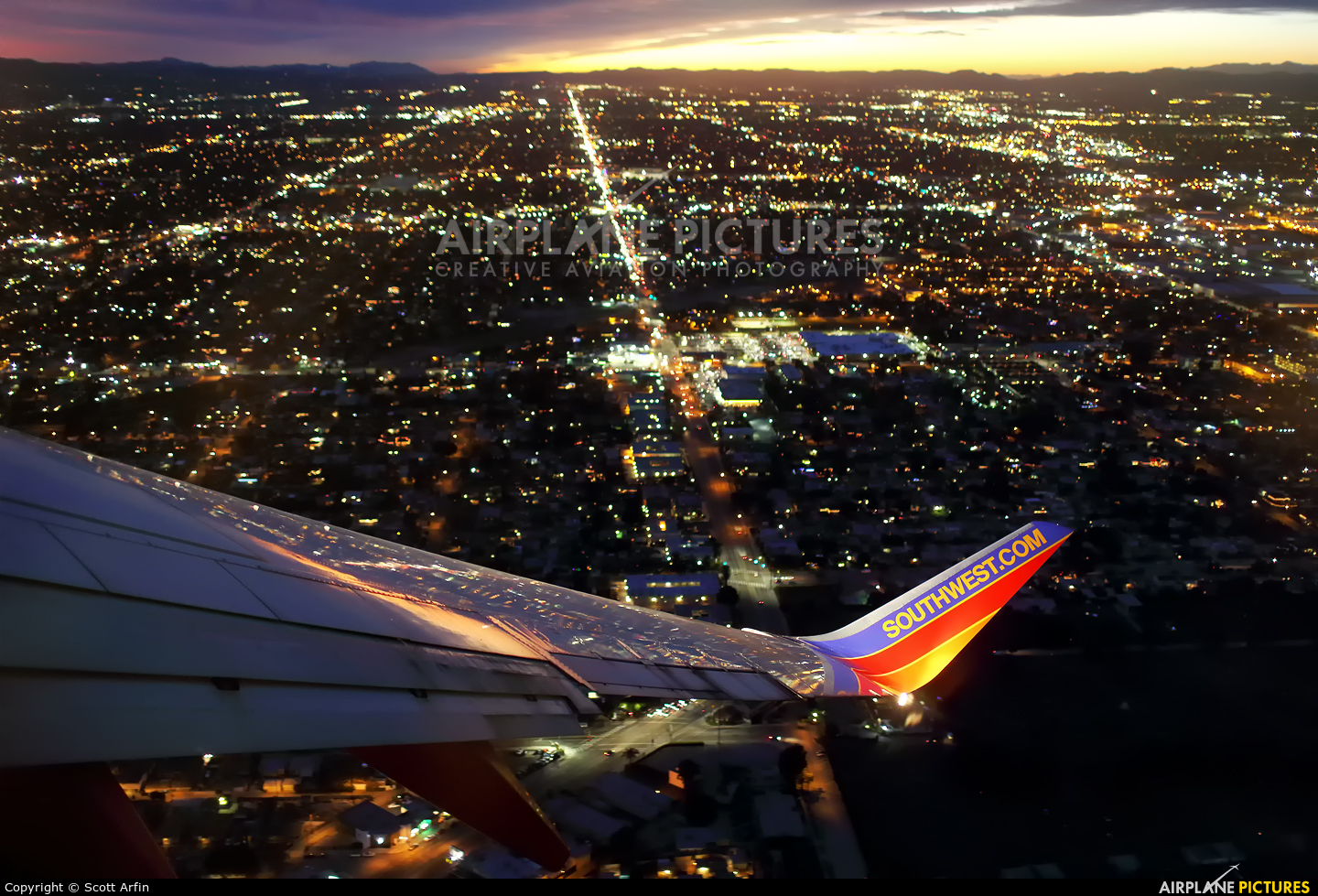 Southwest Airlines N788SA aircraft at In Flight - California