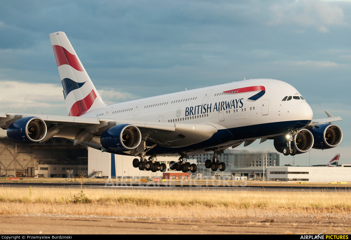 British Airways G-XLEA aircraft at London - Heathrow