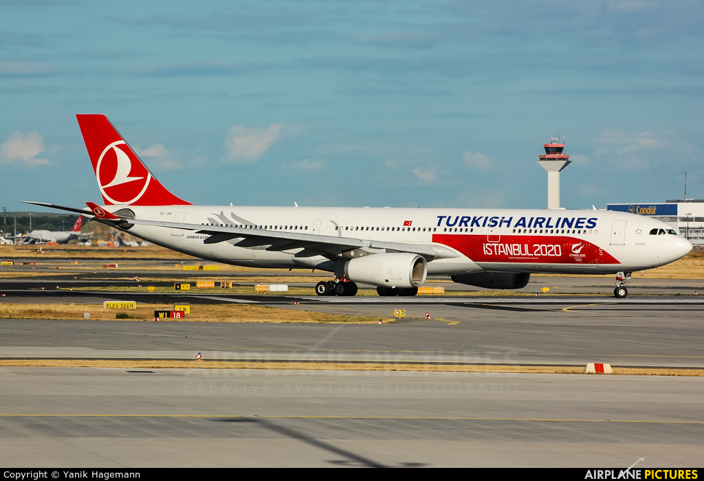 Turkish Airlines TC-JNI aircraft at Frankfurt
