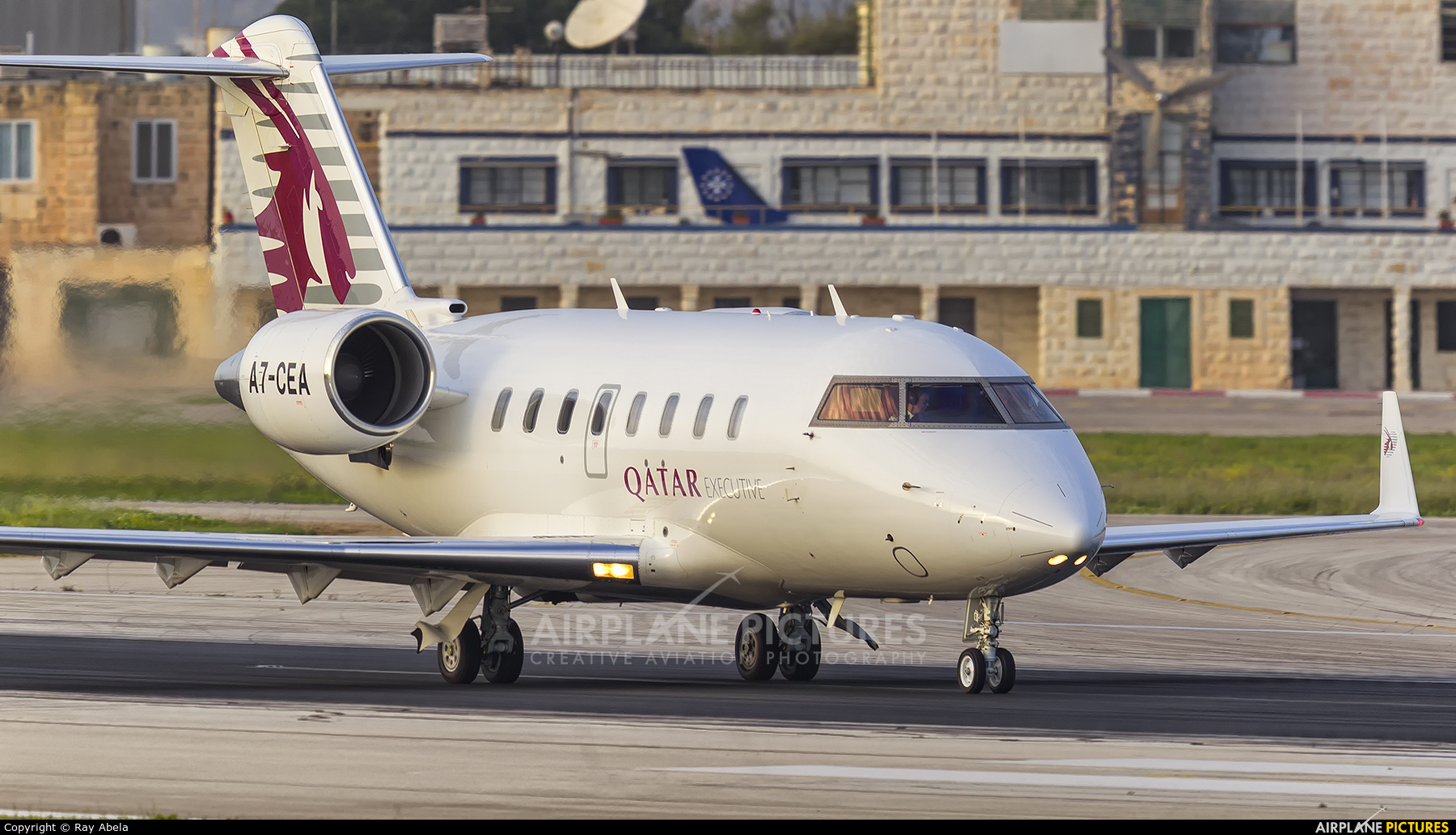 Qatar Executive A7-CEA aircraft at Malta Intl
