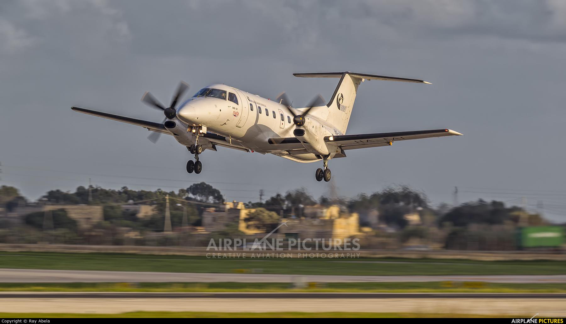 Budapest Aircraft Service HA-FAI aircraft at Malta Intl