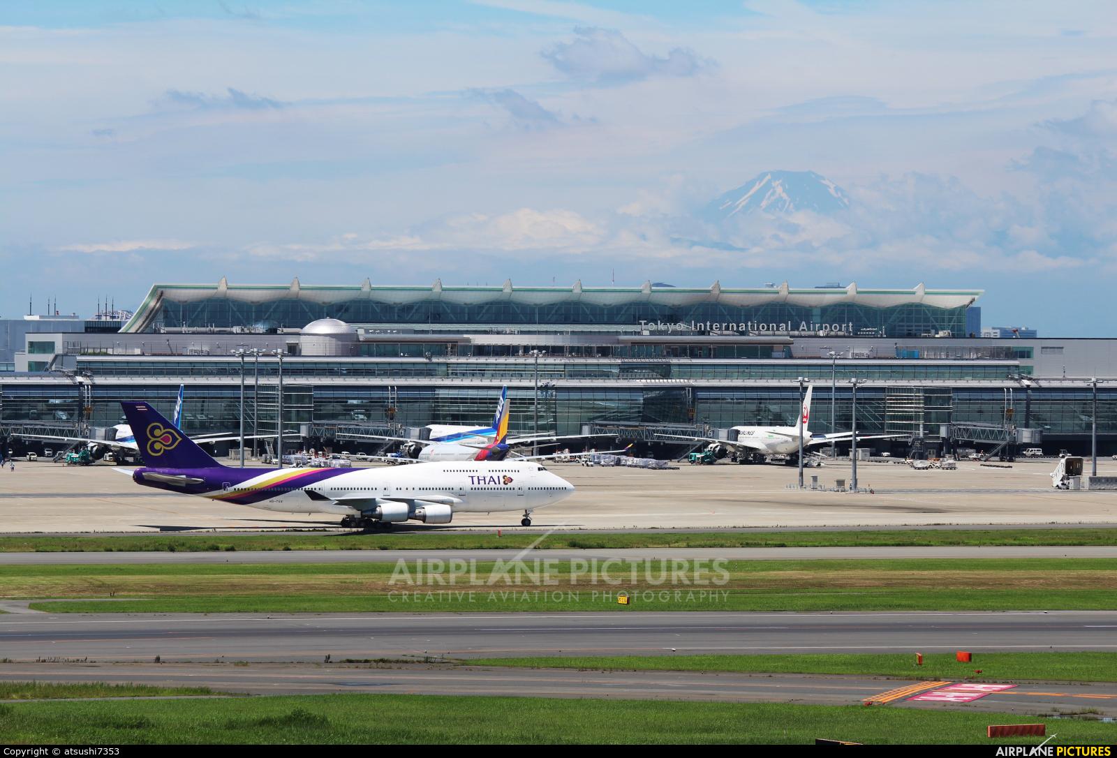 Thai Airways HS-TGX aircraft at Tokyo - Haneda Intl