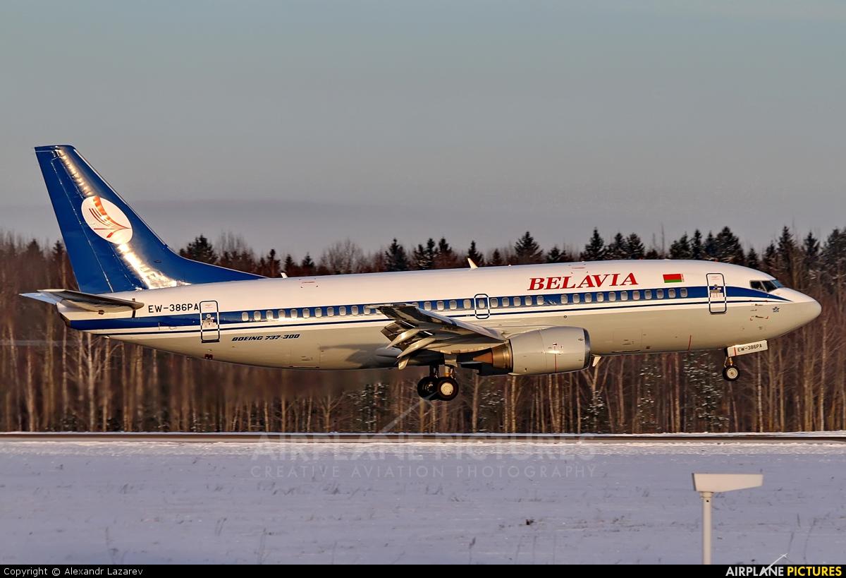 Belavia EW-386PA aircraft at Minsk Intl