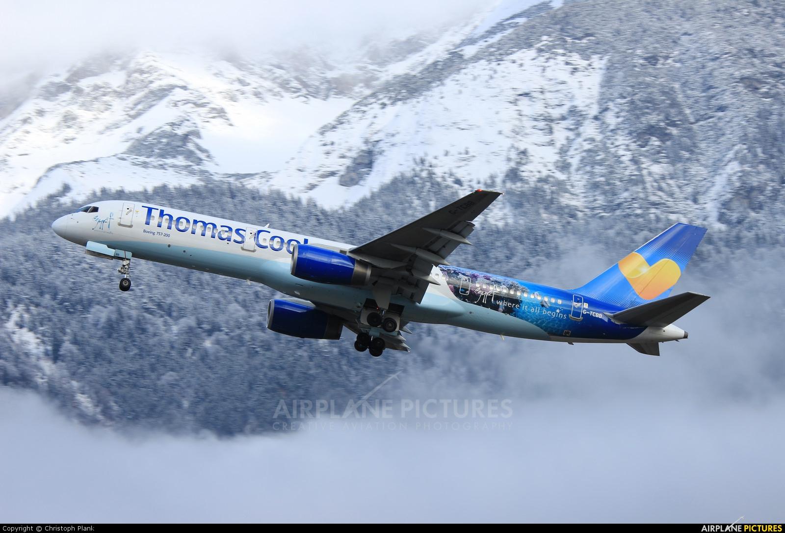 Thomas Cook G-TCBB aircraft at Innsbruck