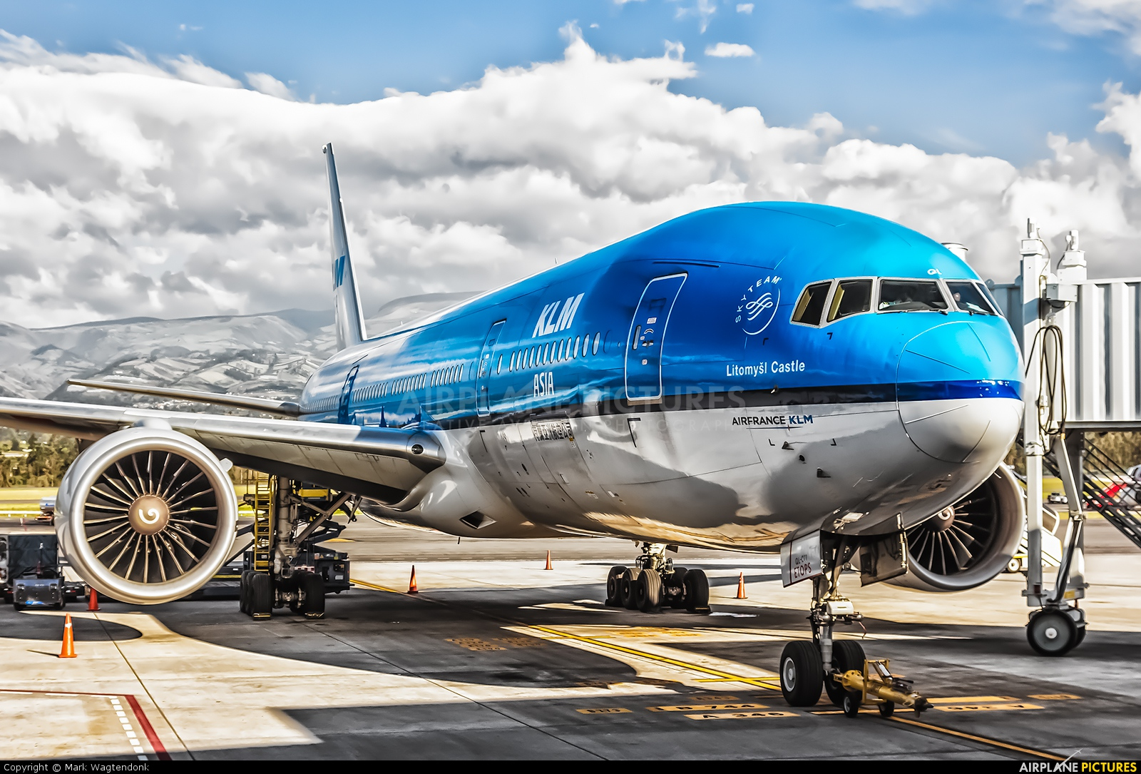 KLM PH-BQL aircraft at Quito - Mariscal Sucre