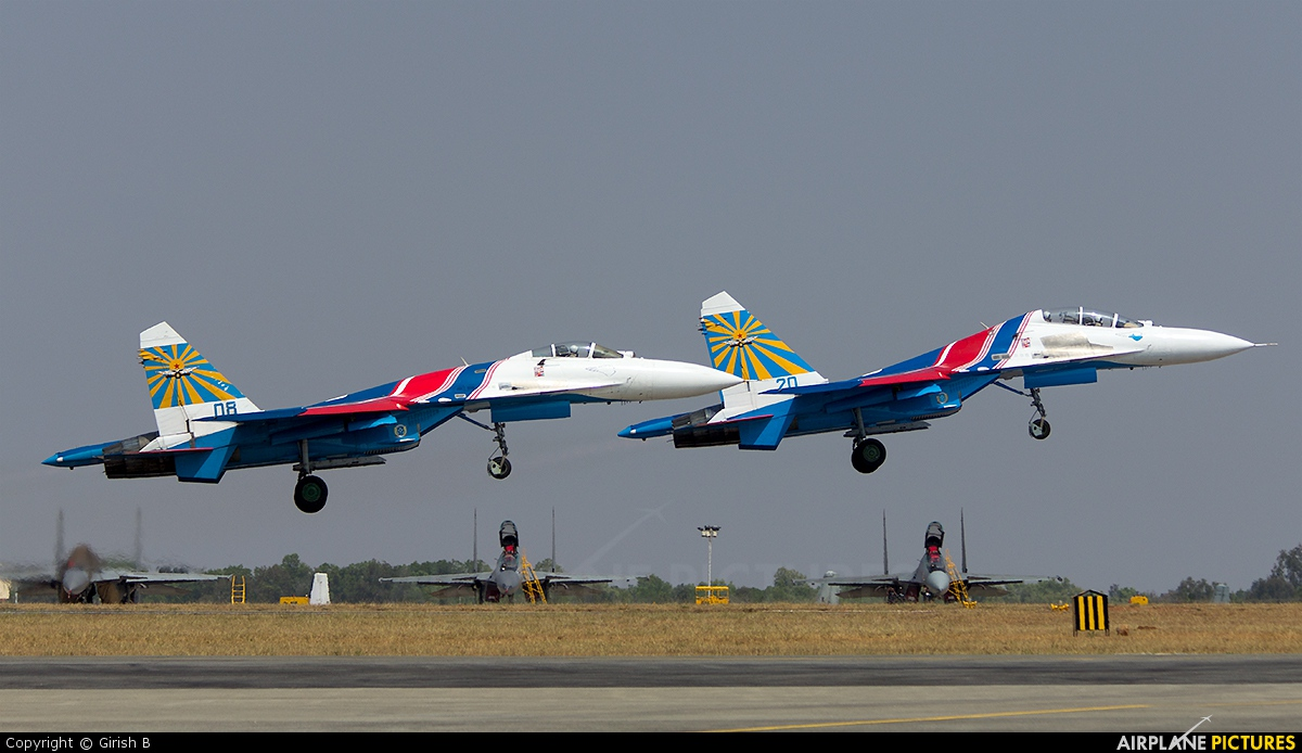"Russia - Air Force ""Russian Knights"" 08 aircraft at Yelahanka AFB"