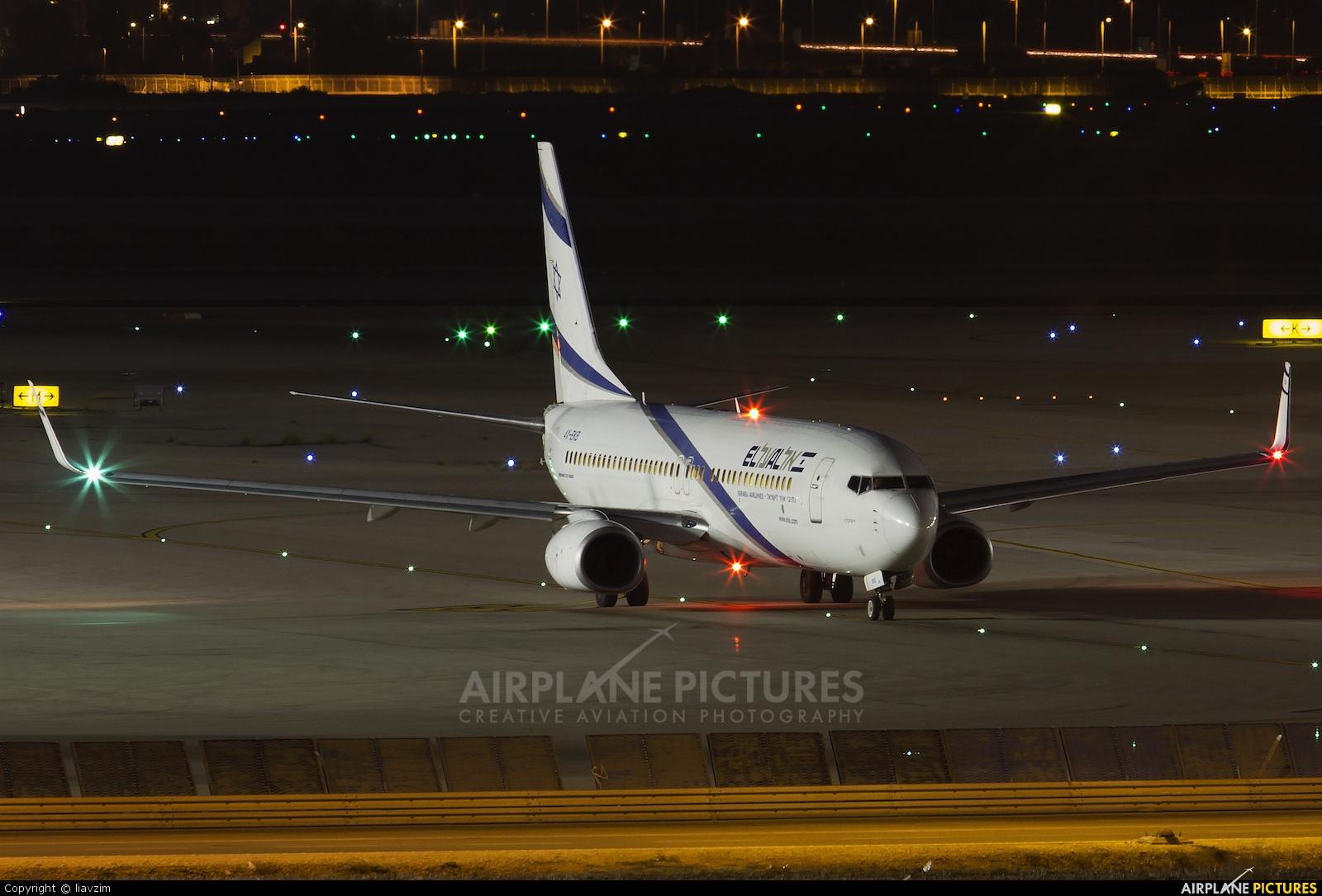 El Al Israel Airlines 4X-EKB aircraft at Tel Aviv - Ben Gurion