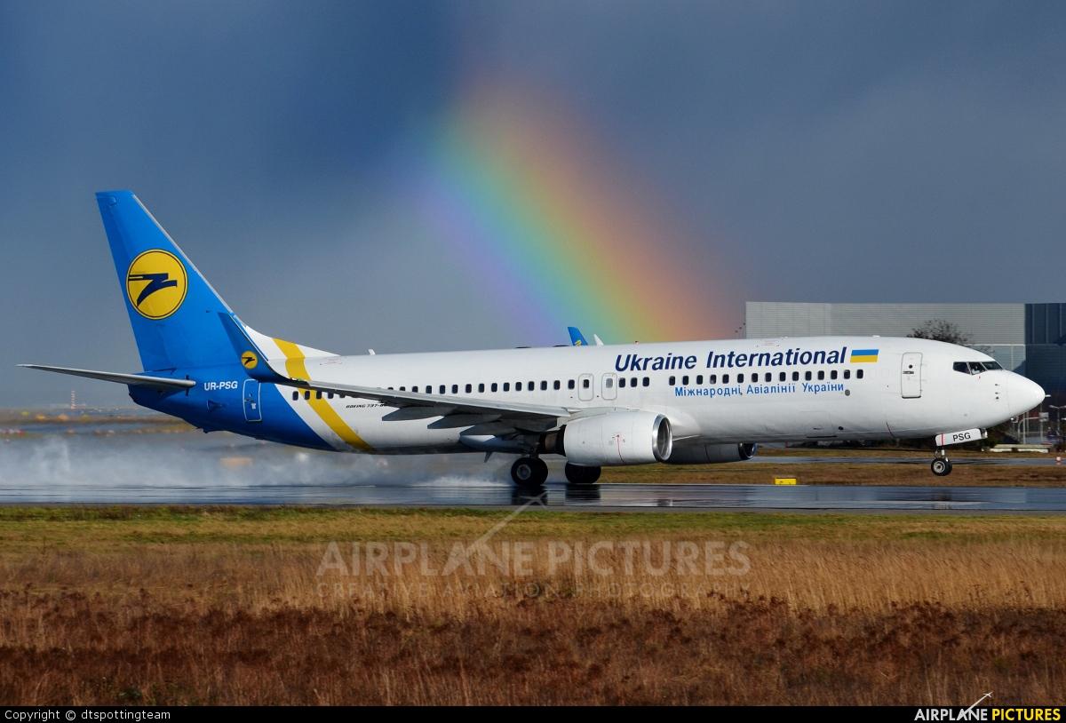 Ukraine International Airlines UR-PSG aircraft at Frankfurt