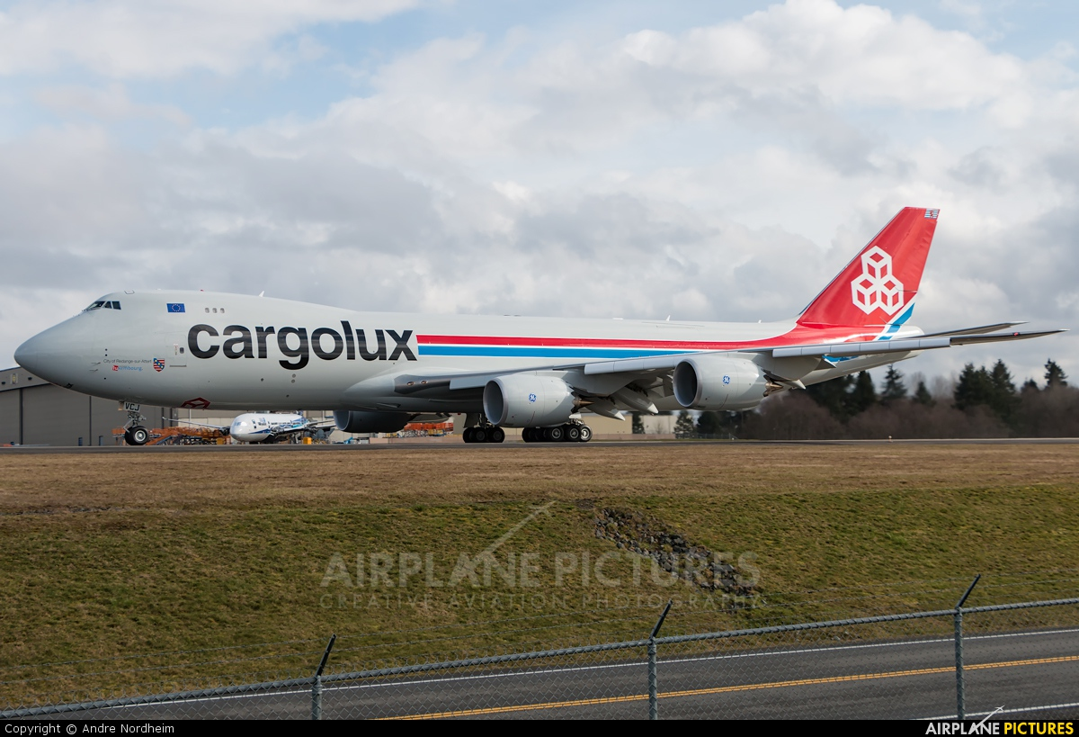 Cargolux LX-VCJ aircraft at Everett - Snohomish County / Paine Field