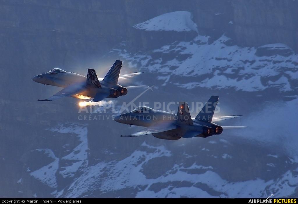 Switzerland - Air Force J-5019 aircraft at Axalp - Ebenfluh Range